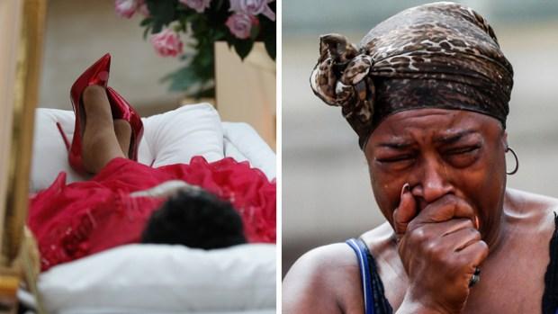 Miles lloran a Aretha Franklin en funeral público con su cuerpo expuesto