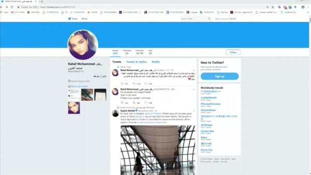 [TLMD - LV] La joven saudita retenida en Bangkok queda bajo la protección de ACNUR