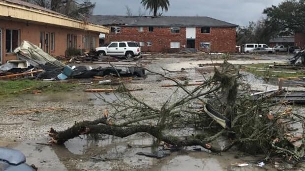 Tornados y tormentas castigan New Orleans