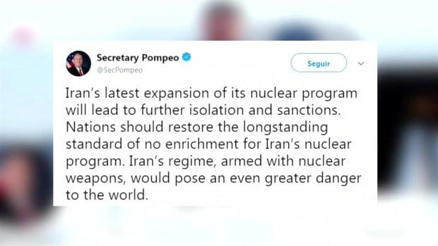 [TLMD - LV] EEUU amenaza con más sanciones a Irán por romper los limites sobre uranio