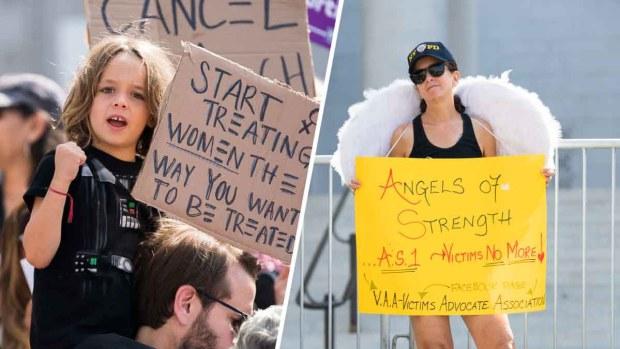 """""""Repudio a Kavanaugh, apoyo a víctimas"""": imágenes de la manifestación"""