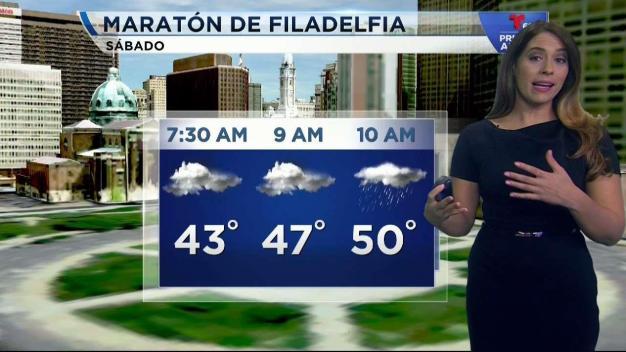Se retrasa la lluvia para el Maratón de Filadelfia
