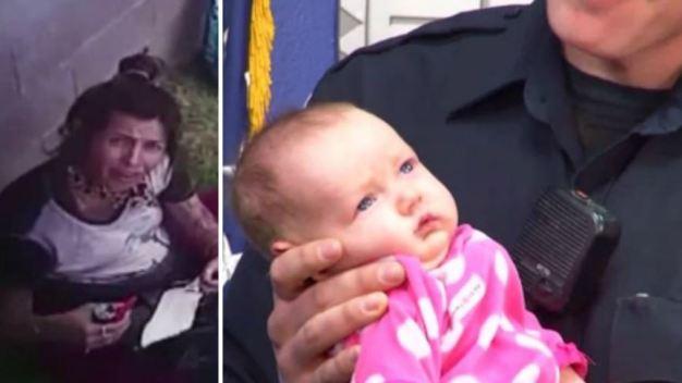 Oficial con 4 niños adopta a bebé de adicta a la heroína