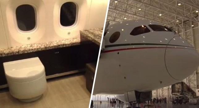 Baño y dormitorio de lujo: cuánto cuesta el avión presidencial de México