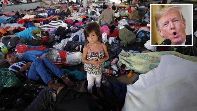 """Trump anuncia medidas por """"culpa"""" de la caravana"""