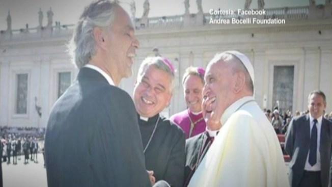 Andrea Bocelli, feliz de cantarle al Papa