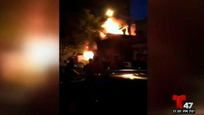 Fuego devora tres viviendas en Jersey City