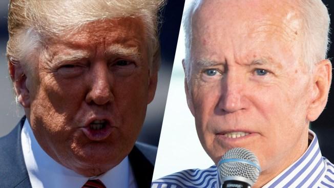 Donald Trump y Joe Biden intercambian ataques