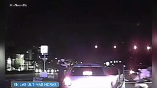 En video: policía dispara al ser arrollado
