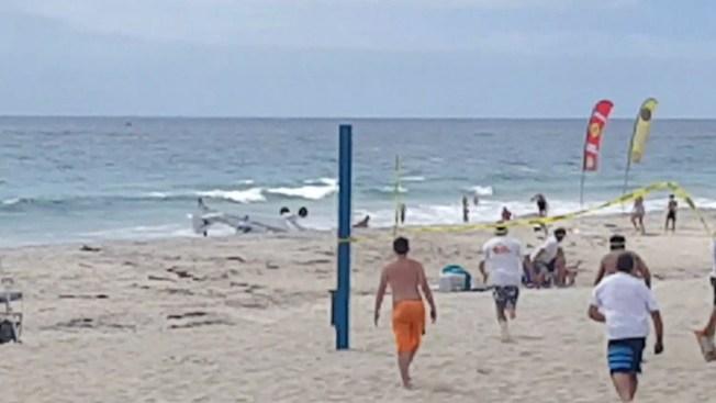 Video: avioneta se estrella en la playa