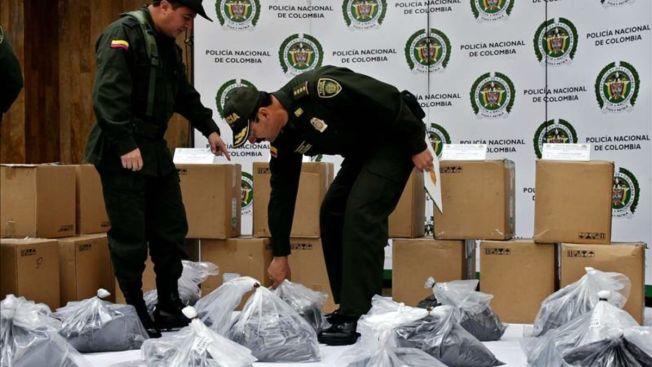 """Decomisan en Colombia """"cocaína negra"""" para Sinaloa"""