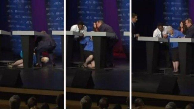 Candidata se desmaya durante debate