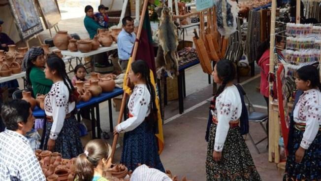 Indígenas mixes defienden sus bordados copiados en Francia