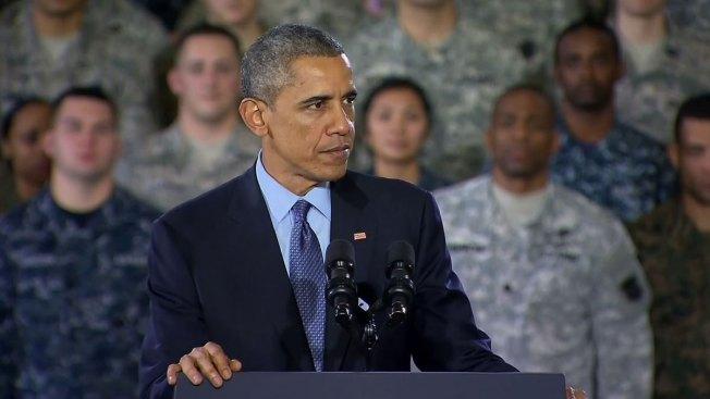 Obama reconoció a tropas en Nueva Jersey