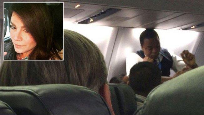 Olga Tañón filma pelea en un avión