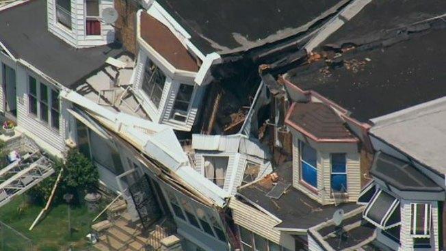 Se revela causa de colapso de casas