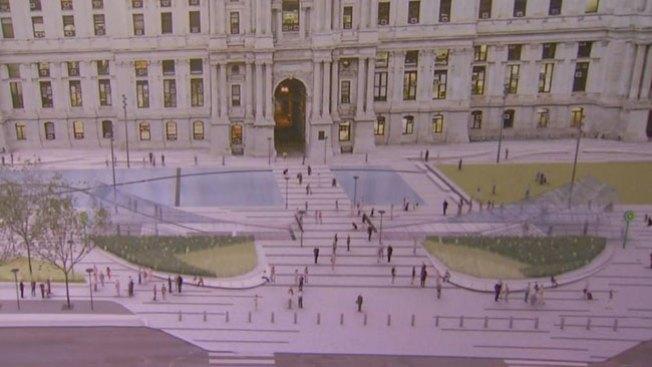 Renovada plaza en el centro de la ciudad