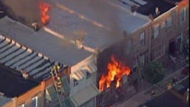 Incendio criminal al sur de Filadelfia