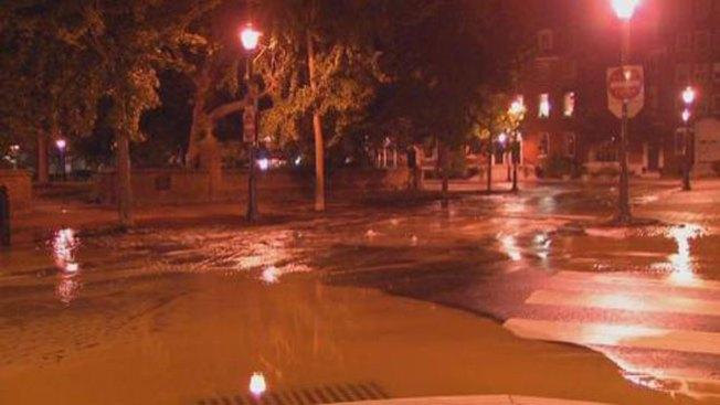 Se inunda sector del centro de la ciudad