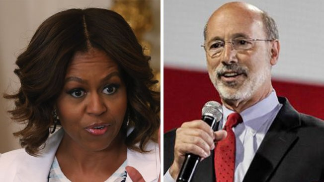 Michelle Obama apoyará a Tom Wolf