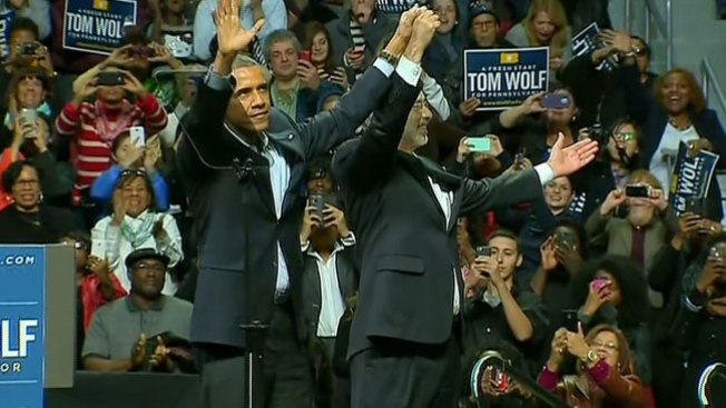 Obama respaldó a Wolf en Filadelfia