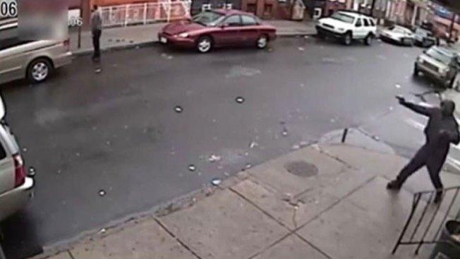 ¡Tiroteo en Filadelfia captado en vídeo!