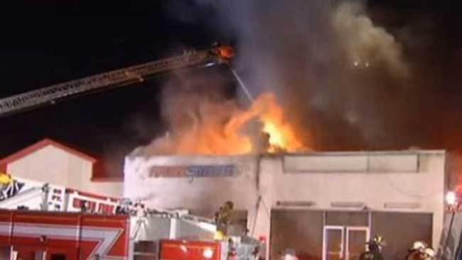 Incendio en comercios de Narberth