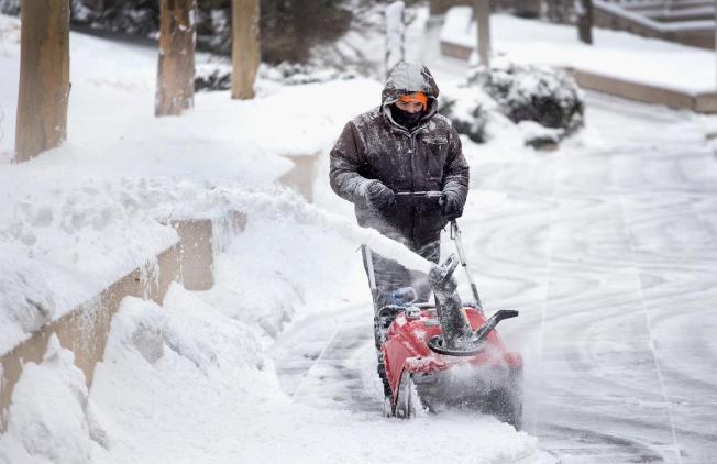 Tormenta invernal sobre Filadelfia para rato